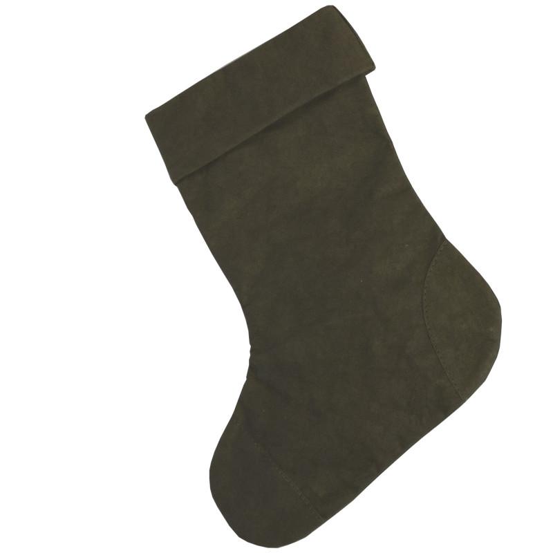 Julesok i mørkegrøn Aggo® papir fra UASHMAMA