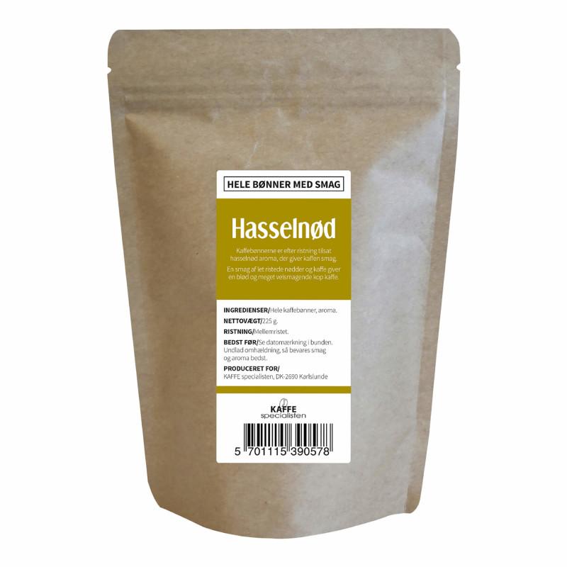 Hele kaffebønner med hasselnød smag fra KAFFE Specialisten
