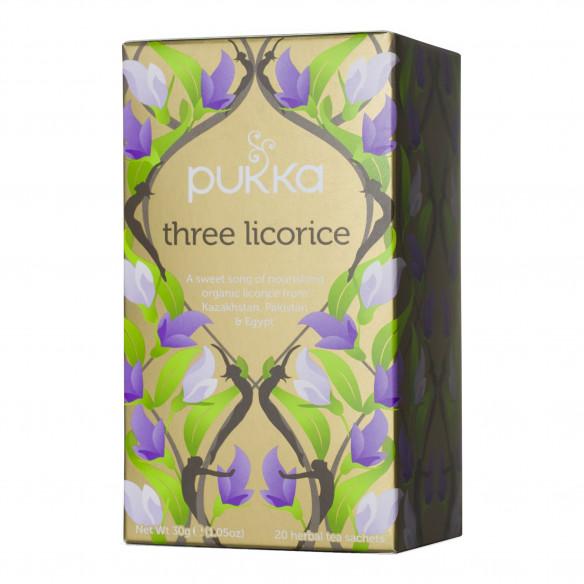 Three Licorice fra Pukka, 20 tebreve