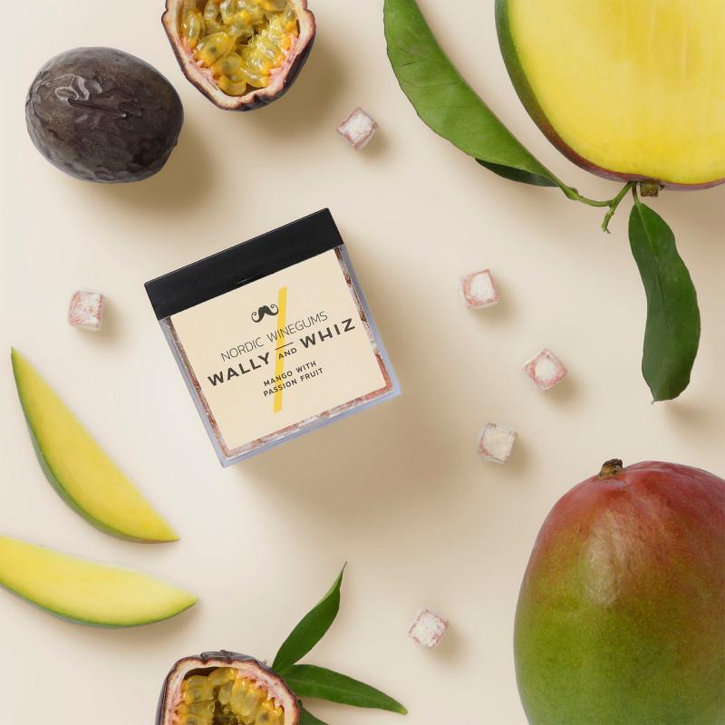 Vingummi med mango og passionsfrugt fra Wally and Whiz