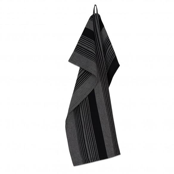 PLINT Viskestykke Stripe, almost black (sort) fra PLINT