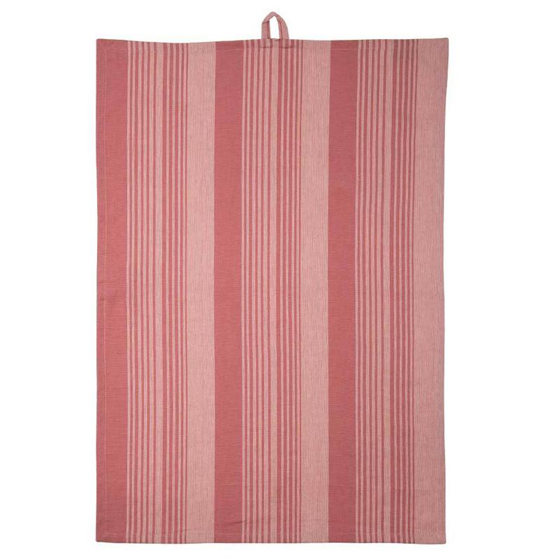 PLINT Viskestykke Stripe, terracotta rose (rosa) fra PLINT