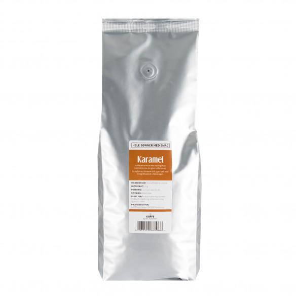 Kaffebønner - Karamel smag, 1 kg