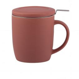 PLINT Tekop med filter, terracotta rose - 450 ml