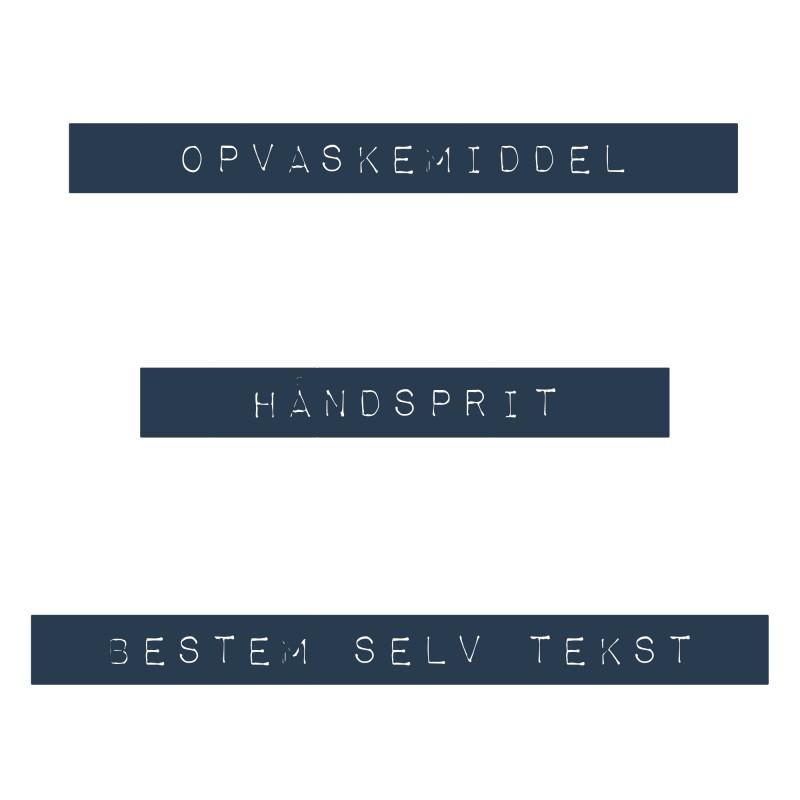 Dymo retro label med Valgfri tekst fra NORU