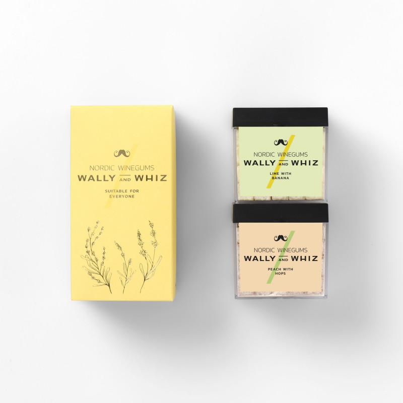Wally and Whiz forårssmage 2021 - 2 æsker (Lime & Banan og Fersken & Humle)