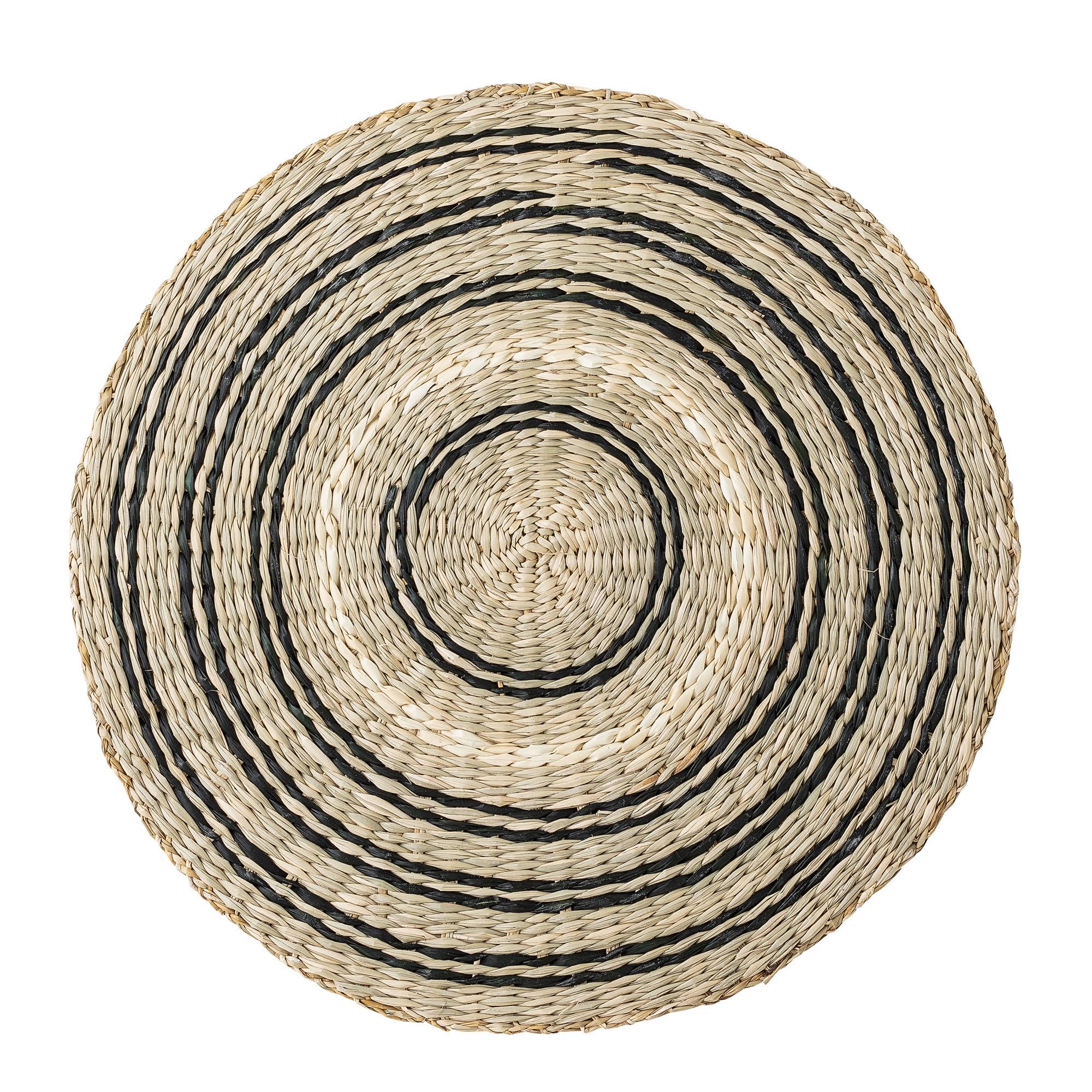 Dækkeserviet, natur/sort – Søgræs
