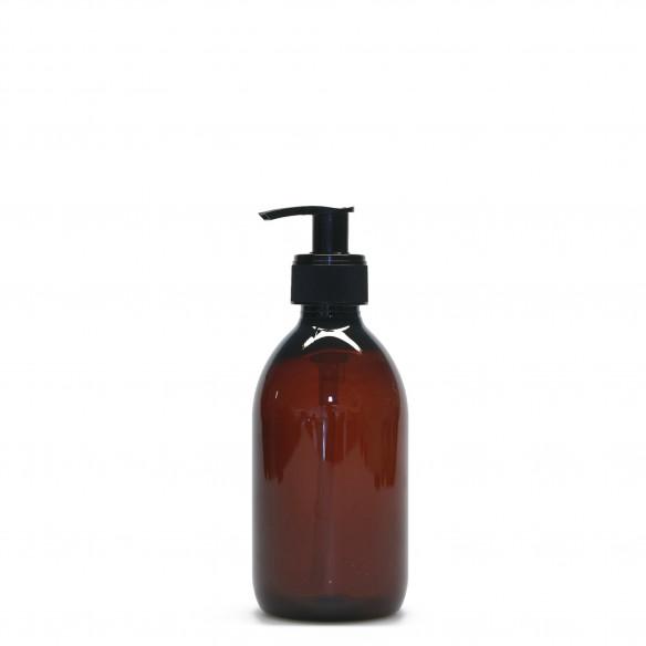Plastik flaske med pumpe i brun fra PLINT - 0,3 l