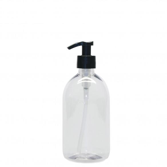 Plastik flaske med pumpe i klar fra PLINT - 0,5 l