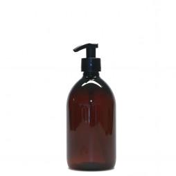 Plastik flaske med pumpe i brun fra PLINT - 0,5 l