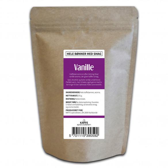 Hele kaffebønner med vanilje smag (225 gram) fra KAFFE Specialisten