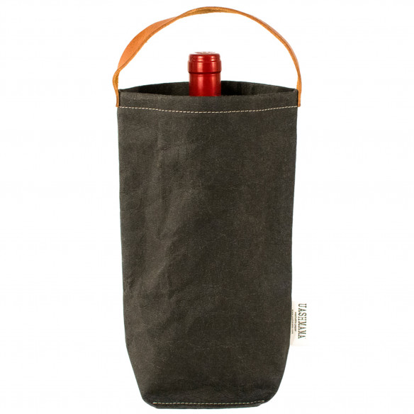 Vinpose i bæredygtig papir fra UASHMAMA - Sort