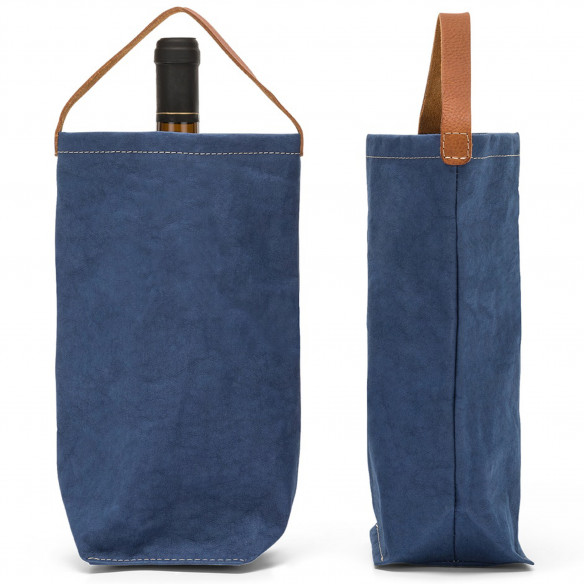 Vinpose i bæredygtig papir fra UASHMAMA - Mørkeblå