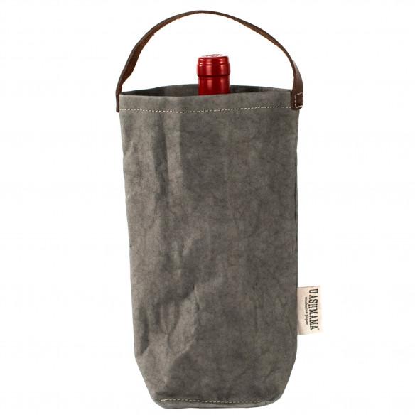 Vinpose i bæredygtig papir fra UASHMAMA - Mørkegrå