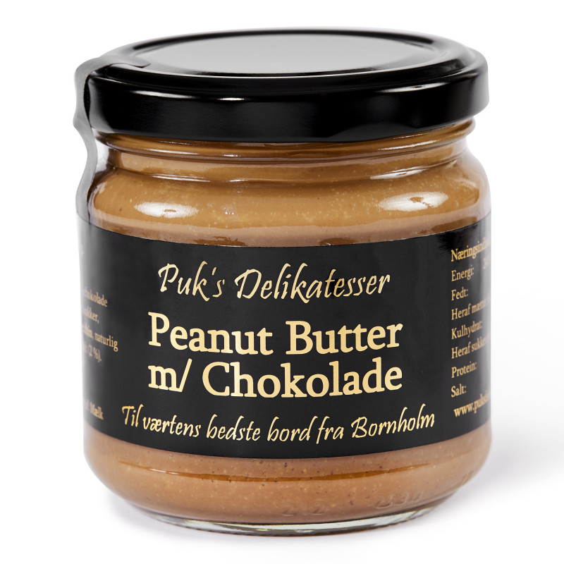 Peanutbutter m/ Chokolade - Puk's Delikatesser