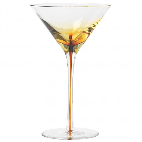 4 Stk. Amber Martini Glas Fra Broste Copenhagen