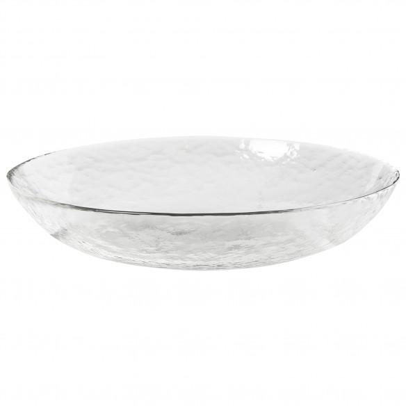 Hammered Glasskål, Ø22 cm - Broste Copenhagen