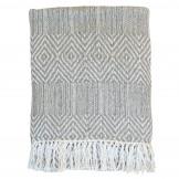 Fin grå plaid fra Chic Antique, lavet af overskudsgarn